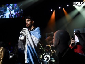 Jady Menezes en Alan Scheinson bij Glory 61 in New York